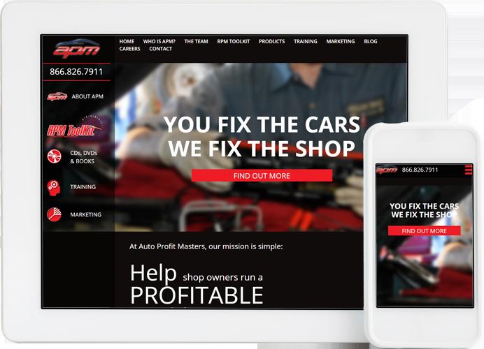 APM website design