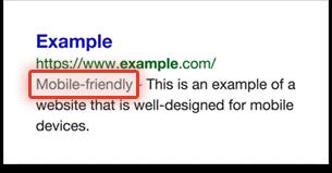 Google-mobile-friendly-website-design-search-result