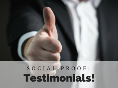 Social Proof from Customer Testimonials for your Business